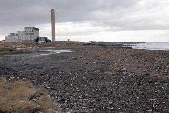 Lynemouth blast beach