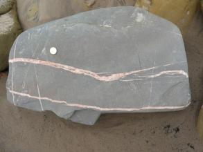 calcite veining in limestone (B)